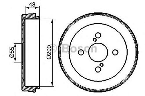 Bosch 0 986 477 138 tambours de frein