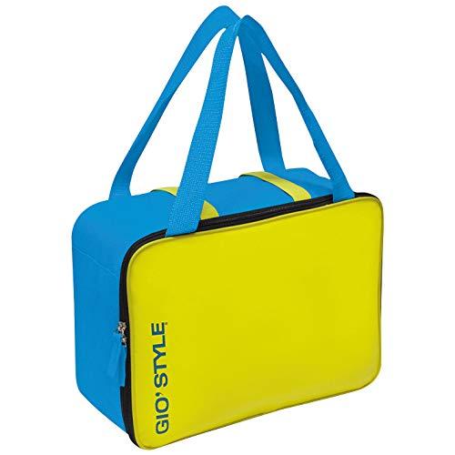 GioStyle Kühlbox Kapazität 15, 5Liter Kühltasche Reise-Camping Meer Strand Lime Cool Bag Gio 'Style 2Varianten, blau, 26x15