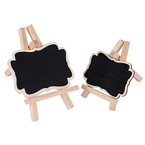(set da 20 pz) mini lavagna legno lavagnette promemoria segnaposto per decorazione matrimonio tavolo segnatavolo (10 grandi + 10 piccoli)
