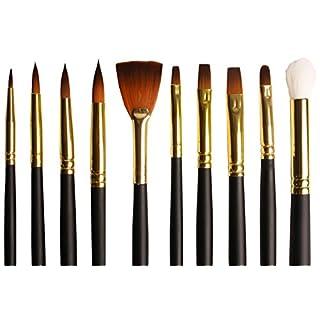 Original Stationery - Acrylpinsel - Acryl pinsel set - Pinsel Malen - Künstlerpinsel - Weiche Borsten aus Taklon [Künstlerqualität] - für Acryl, Wasserfarben und Öl - Set aus 10