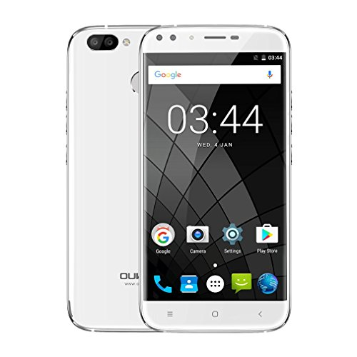 Preisvergleich Produktbild Oukitel U22 Smartphone Android 7.0 5.5 inch Handys Fingerprint MTK6580 A Quad Core 1.3GHz 2G RAM 16GB ROM Dual Rear View Camera 2MP + 13MP (Weiß)
