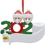 3D driedimensionaal kerstversiering, 2020, gepersonaliseerde overlevende familie van 2, 3, 4, 5 kerst 2020, feestdagendecoratie, doe-het-zelf, naam, zegenhars, sneeuwpop, kerstboom hangen hanger