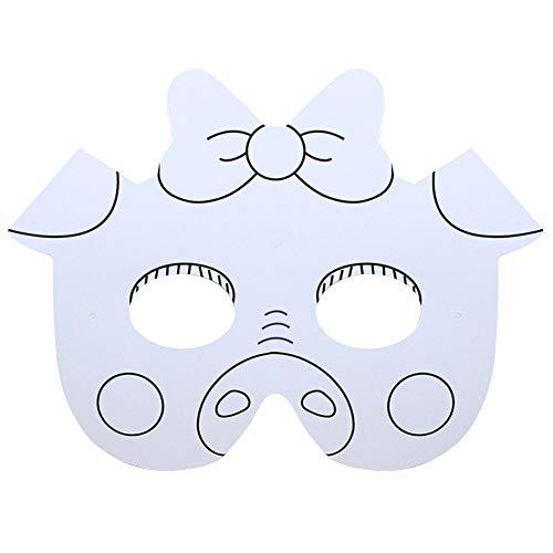 SMARTRICH Máscara Blanca, máscara de Animales para niños – Máscara de Arte para niños para Decorar, Cerdo, 27 * 17