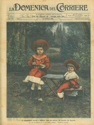 Le principessine Jolanda e Mafalda, figlie dei sovrani (grande ritratto a piena pag.)