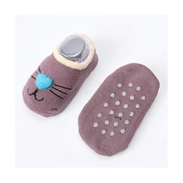 ZOOMY Baby Girls Boys Calcetines Antideslizantes para niños pequeños con agarres Calcetín de Piso de Dibujos Animados… 4
