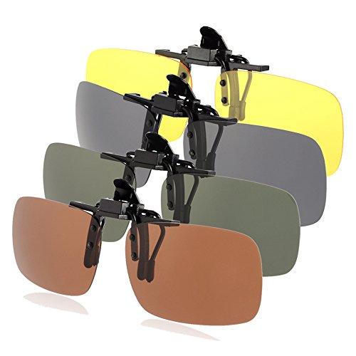 PChero 4-Pack Occhiali da Sole Polarizzati Clip-on,