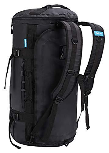 MIER Large Outdoor Duffel Rucksack Sport Sporttasche Rucksack mit Schuhfach Cabrio zu Rucksack, Wasserdicht, Schwarz, 60L