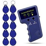 OBO HANDS Handheld 125KHz RFID Bloccante Lettore Copiatrice Copiatrice + 10pcs Scrivibili T5577 Chiavi