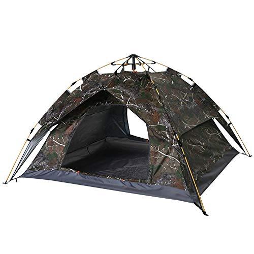 Hengta Familienzelt 3-4 Personen Campingzelt mit Tragetasche,Tunnelzelt,Zelt für Camping Wandern Reisen