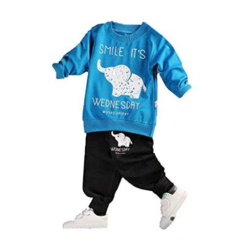Bold N Elegant - Be Bold Inside & Elegant Outside Baby Unisex Cotton Outfits & Clothing Set (Bnekd10008-B_Blue & Black_6-12 Months)