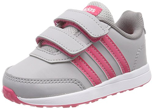 adidas Unisex Baby Vs Switch 2 CMF Gymnastikschuhe, Mehrfarbig (Grey Two F17/Real Pink S18/Grey Three F17), 24 EU (Kleinkinder Schuhe Kinder)