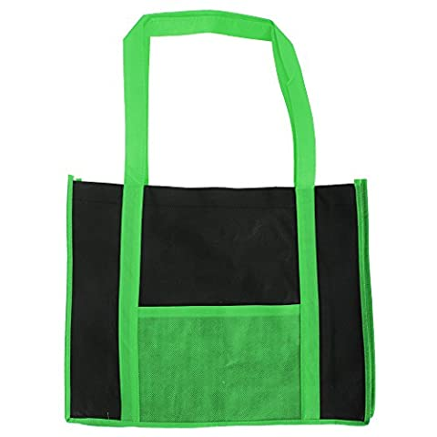 Bags By Jassz Hibiscus Two Tone Long Handle Tote/Shopper Bag (One Size) (Dark Green/Black)