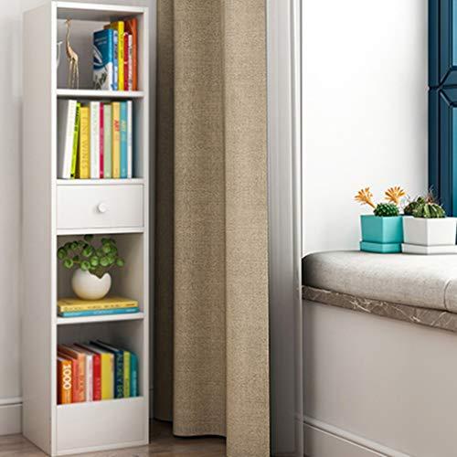 OCYE Libreria, scaffale, libreria, 30 × 25 × 90 cm / 30 × 25 × 120 cm, Soggiorno con cassetti, Ufficio, Camera dei Bambini