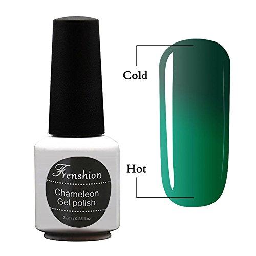 Frenshion 7.3ml Vernis à Ongles Caméléon Semi Permanent UV/LED Gel Polish Soak-Off Base Top Couleur Température Changée 40