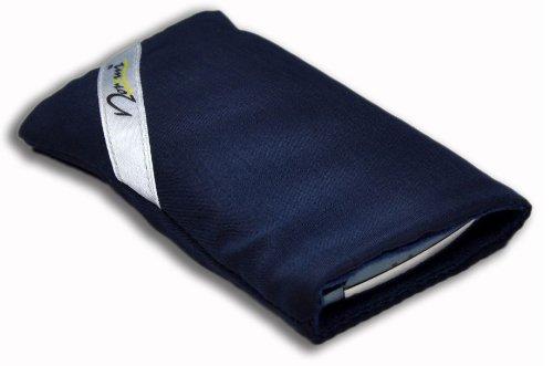 Norrun Handytasche / Handyhülle # Modell Sasso # ersetzt die Handy-Tasche von Hersteller / Modell Samsung SGH-E880 # maßgeschneidert # mit einseitig eingenähtem Strahlenschutz gegen Elektro-Smog # Mikrofasereinlage # Made in Germany