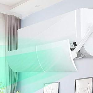 hemicala Air Conditioner Deflector DéFlecteur De Climatisation, Angle De Chauffage RéGlable, Ailes RéGlables, Convient Aux Climatiseurs De DifféRentes Longueurs, Acier en Plastique