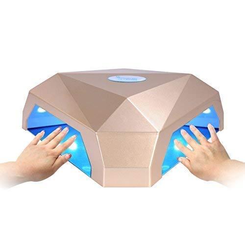 Secador Uñas, Erosway Lámpara led uñas 60w, curación