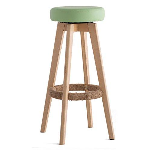 Inicio / taburete de muebles de interior para ocio Sedia a sdraio in legno Sgabello da bar per sgabello da colazione per cucina moderna Home & Commercial Rotatable Creative Concise Style Green durable