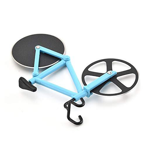 cssmcfpsdpsp Edelstahl Pizzamesser Zwei Rad Fahrrad Form Pizzaschneider Pizza Werkzeug Fahrrad Runde Pizzamesser Cutter