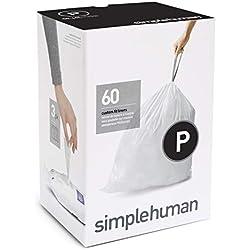 Paquet de 20sacs poubelle Simplehuman, blanc, 60 Pack