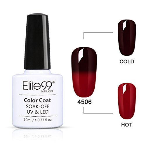 Elite99 UV LED Thermo Nagellack Farbwechselt Gel SOCK OFF Gel Peer Off Nagellack UV farbgel Gel nägel Nail Art 1-er Pack, 10ML