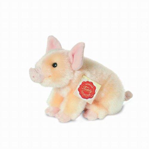 Preisvergleich Produktbild Hermann Teddy Collection 930181 - Plüsch-Schweinchen, 18 cm