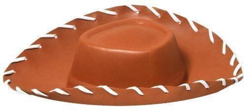 Imagen de sombrero de vaquero de goma eva marrón para niños woody de toy story fiesta de disfraces