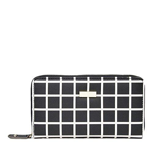 Brieftasche Damen Lange Brieftasche Brieftasche Holding Tasche Mode Lässig Einfach Und Großzügig Black