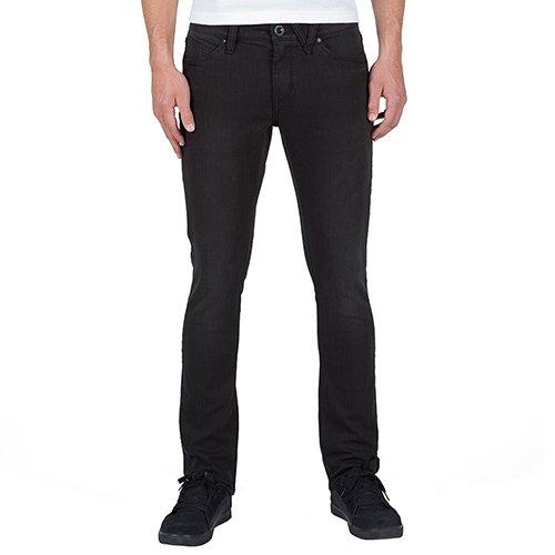 Volcom Herren, Straight Leg, Jeans, 2X4 DENIM DUSTED BLACK