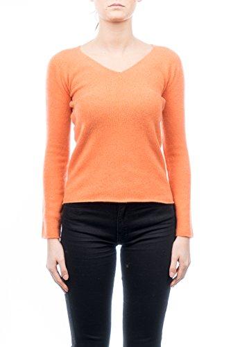 Dalle Piane Caschmir - V-Ausschnitt 100% Kaschmir - Damen, Farbe: Orange, Größe: XL -