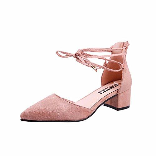 YUCH Damen Sandalen Tipps Fuß Ringe Verband Hochzeit Schuhe, Rosa, 35
