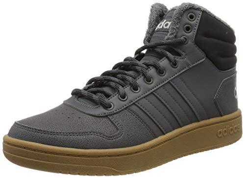 adidas Herren Hoops 2.0 MID Basketballschuhe, Grau (Grey Five/Grey Five/Core Black Grey Five/Grey Five/Core Black), 43 1/3 EU