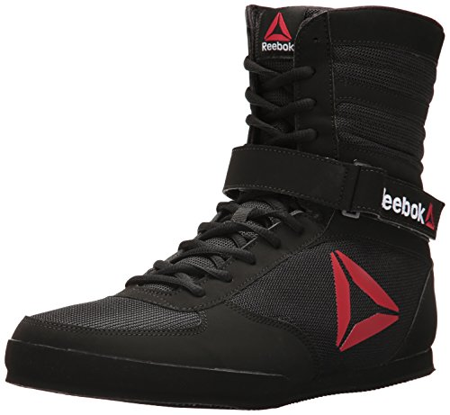 Reebok Men's Boot Boxing Shoe, Buck-Delta Black/White, 10 M US
