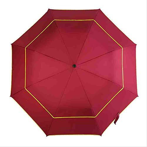 QNBD Paraguas Plegable Hombres Lluvia Mujer Doble
