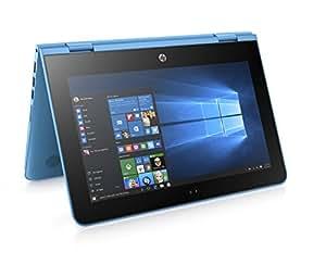 HP Stream x360 11-aa000na 11.6-inch Convertible Laptop (Aqua Blue) - (Intel Celeron N3060, 2 GB RAM, 32 GB eMMC, 1 TB OneDrive and Office 365, Touch-Screen, Windows 10)