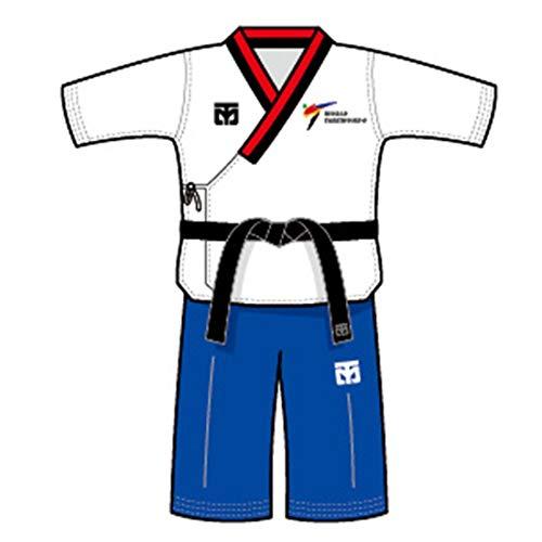 Mooto Korea Taekwondo Poomsae Uniform Schlüsselanhänger Kettenhalter MMA Martial Arts Kickboxen Karate Tasche Taschen Uniform Zubehör Souvenir (3. Poom Male) -