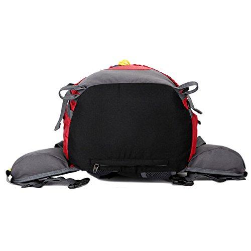 Große Kapazität Im Freien Rucksack Klettern Schulter Tasche 50L Mit Regen Abdeckung Red