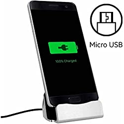 World Smartphones Station d'accueil Micro USB pour HTC 7 Mozart Argent