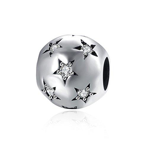 HMILYDYK Cuenta redonda de plata de ley 925 con cristales de Swarovski...