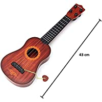 BM Acoustic Guitar Ukulele Instruments Beginner 4-Strings Play Guitar Musical Learning Toy Best Gift for Kids ( Brown…