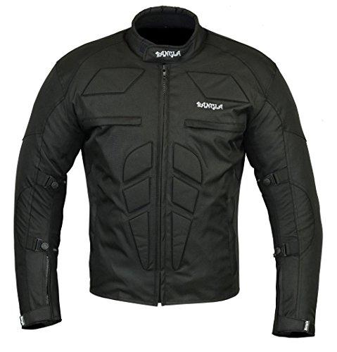 Ledershop-online Bangla Sportliche Motorradjacke Bikerjacke Motorrad B-36 Schwarz XL