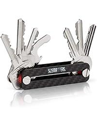 Sizematters. Key Organizer aus Carbon für bis zu 12 Schlüssel (inkl. Simkartenöffner & Flaschenöffner)