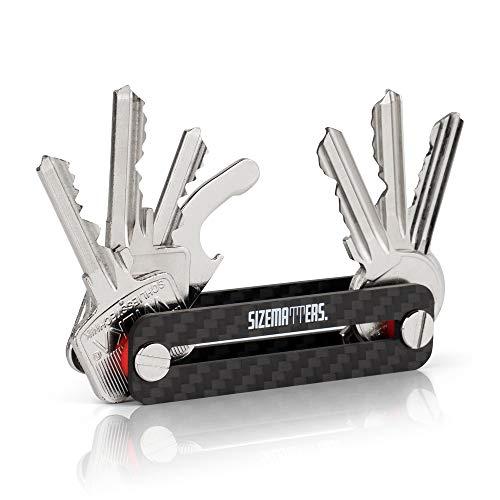 Sizematters. Key Organizer Aus Carbon Für Bis Zu 16 Schlüssel (inkl. Simkartenöffner & Flaschenöffner) - Schlüssel Organizer