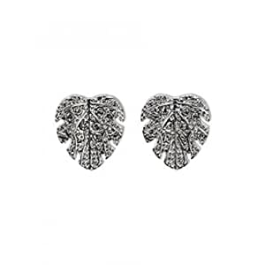 Pilgrim - 131236103 - Luxurious Leaf - Boucles d'Oreilles clous Femme - Métal Argenté - Feuille - 1 cm
