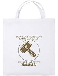 Mjölnir Midgard Odin Celtic THOR´S HAMMER COTTON BAG Jutebeutel Stoffbeutel