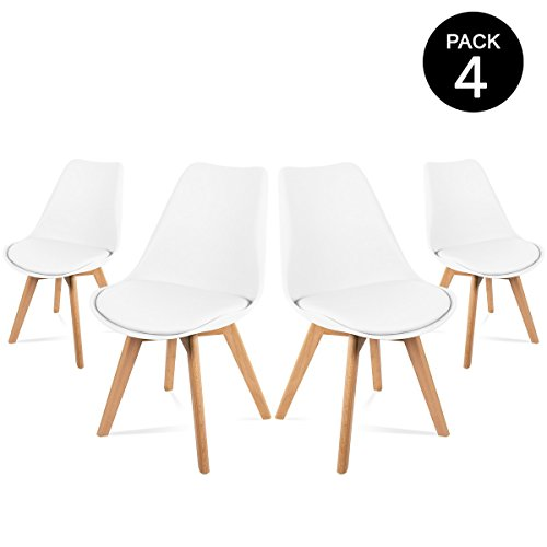 Mc Haus - Sillas, Pack de 4, nordicas