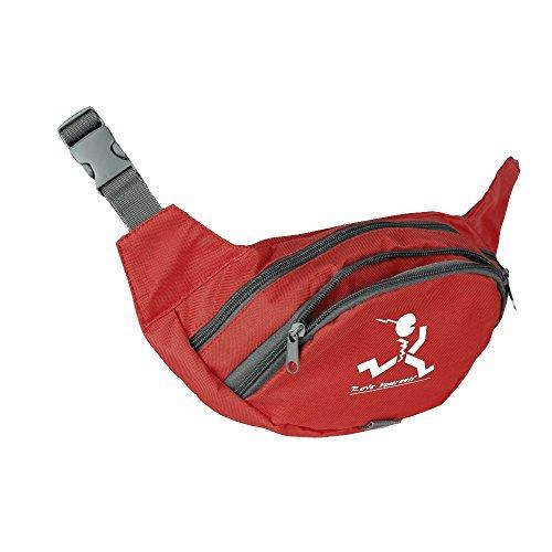 """(Gürteltasche  Marke: """"Move Yourself""""  mit 2 Fächern  Hüfttasche oder Bauchtasche  Ideal für den täglichen Gebrauch, zum Sport oder zum Reisen  Für Kinder, Erwachsene, Damen und Herren  Farbe: Rot)"""