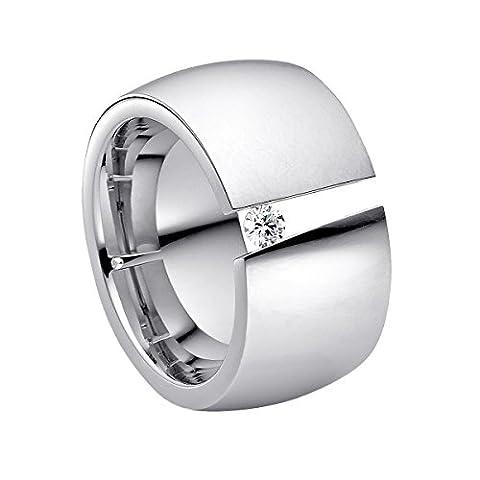 steel_art Damen-Ring aditus poliert Gr.60 Swarovski zirkonia peridot 3 mm Ring mit Stein Zirkonia Diamant Brillantfassung Spannring Edelstahl Größe 60 (19.1)hr8001-3-9-60