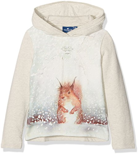 TOM TAILOR Kids photo print sweatshirt, Felpa Bambina, Beige (hot sand melange), 98 (Taglia Produttore: 92/98)