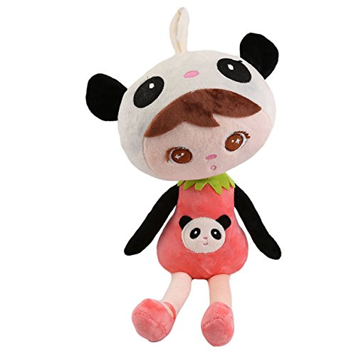 s Mädchen Stoffpuppe Plüsch PuppeSpielzeug - Stoff - Weichpuppe - Stoffpuppen Schmusepuppen / Puppen - Kinderpuppen - Kuschelpuppe (Panda) (Kleine Mädchen Store)